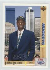 1991 Upper Deck #3 Dikembe Mutombo Denver Nuggets RC Rookie Basketball Card 0g5