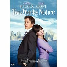 Two Weeks Notice (DVD, 2003, Full Frame)Sandra Bullock, Hugh Grant