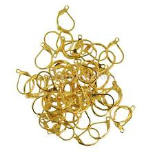 50pcs French Leverback Earrings Hooks Open Loop Findings DIY Jewelry