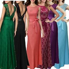 Women Long Sexy Maxi Evening Bridesmaid Elegant Formal Party Ball Gown Dress