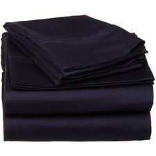 Complete Bedding Item 100% Pima Cotton 600TC Navy Blue Solid Choose Size & Set
