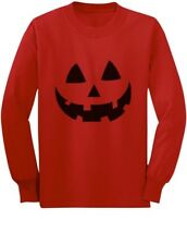 Jack O' Lantern Pumpkin Face Halloween Costume Toddler/Kids Long sleeve T-Shirt