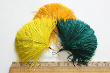 Vintage Ostrich millinery hat feather pompom trim 4783-hair accessory band part