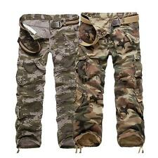 Fashion Military Army Cargo Army Combat Long Trousers Casual Mens Pants P3N4