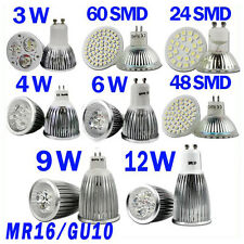 MR16/GU10 48/60LED Spot Light Bulbs SMD 3W/4W/5W/6W High Power Warm White lamp