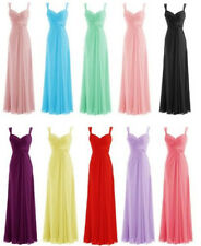 Hot Selling Simple Bridesmaid Dress Chiffon Long Prom Party Formal Evening Gown