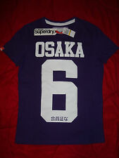 SUPERDRY OSAKA 6 Purple / White Mens  XL ( Extra Large )  100% Cotton T-Shirt