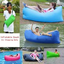 Lazy Inflatable Couch Air Sleeping Sofa Lounger Bag Camping Bed Beach Hangout