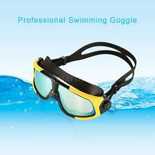 Mens Anti-fog Swim Goggles Waterproof UV Protection Outdoor Swimming New I1B6