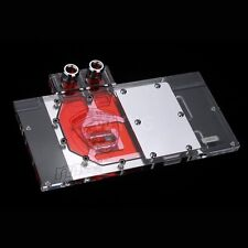 Full Coverage Water Cooling PC Graphic Video Card Brass Clear Acrylic GPU Block