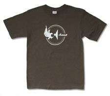 Marshall Amps Speaker Eagle Cycle Logo Adult Brown T Shirt New Official