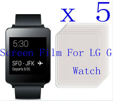 5 Clear Glossy Matte Screen Display Protector Film Foil Skin Cover F LG G Watch