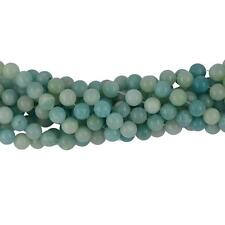 6/8mm AAA Natural Peru Blue Amazonite Gemstone Loose Spacer Beads 15'' Round