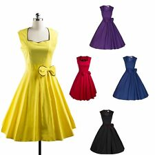 Women's Holiday Midi Dress Formal Office Work Sleeveless Dress Retro Party Dress