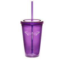 16oz Double Wall Acrylic Tumbler Pool Beach Cup Mug with Straw Dragonfly