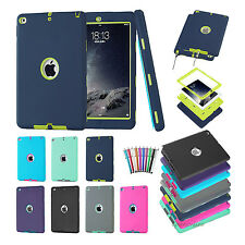 Defender Armor Shockproof Silicone Rubber Cover For Apple iPad ipad air 1 2 case