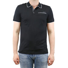Calvin Klein Multi Count Stripe with Tipping Polo Shirt - Mens