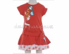 NWT Deux par Deux CHARMANTE Red Jersey Balloon baby girl Dress 3, 4y style H90
