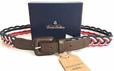 NWT $85 Brooks Brothers Black Fleece THOM BROWNE Red White & Blue Rope Belt AUTH