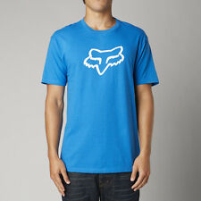 NEW FOX RACING MENS ADULT LEGACY FOX HEAD SS TEE BLUE SHORT SLEEVE S/S T SHIRT