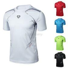New Gym Sport Running T Shirt Fitness Muscle Quick Dry Stretch Top Vivid CUB