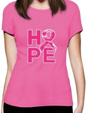 Camo Pink Ribbon Hope Breast Cancer Awareness Women T-Shirt Support