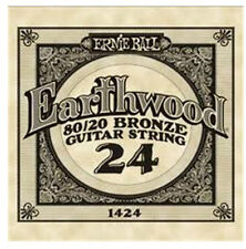 Earthwood Acoustic Single Guitar String .024 Pack of 6 (part number) 1424