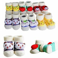 Cartoon Cute Baby Girl Boy Anti-slip Socks Slipper Socks Shoes Boots 0-6 Months