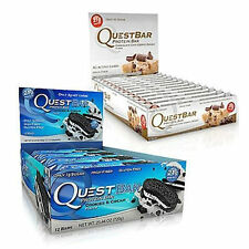 Quest Nutrition Protein Bars Including the Latest Flavors 2 FULL BOXES FAST SHIP