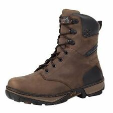 Rocky Work Boots Mens Forge Waterproof Insulated Leather Brown RK061