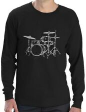 Gift for Drummer - Cool Drums Design Printed Long Sleeve T-Shirt Drums Player