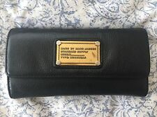 Marc By Marc Jacobs Black Leather Wallet Clutch