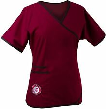 Alabama Crimson Tide Women's Mock Wrap Scrub Top