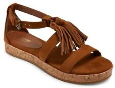 MOSSIMO SUPPLY Women's Brown Larissa Sandals with Fringed Tassels - NEW