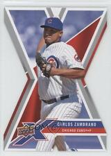 2008 Upper Deck X Die-Cut #17 Carlos Zambrano Chicago Cubs Baseball Card 1e1