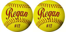 25 Team Softball Decals Bumper Stickers Personalize Text Many Colors Discounted