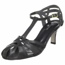 Mariana by Golc Women's Samantha Black Leather Sandal
