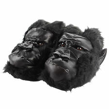 Novelty Faux Fur Gorilla Monkey Ape Slippers For Men With Non-Slip Sole Gift