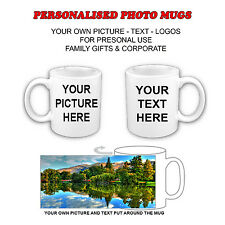 PERSONALISED PHOTO MUGS CERAMIC WITH YOUR PICTURE AND TEXT