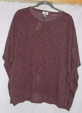 NWT - Ms. Batwing Boxy Pullover Tee Shirt from Old Navy - Red Heather - Sz M/L