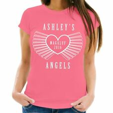 Personalised Name's Angels Hen Party T-Shirt, Bride to Be Novelty Memento Gift