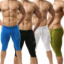 Cozy Mens Fifth pants Fitness Sports Yoga Trunks Running shorts Athletic Apparel