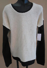 New VANS Ivory black oversized long sleeve sweater juniors girls size XS or XL