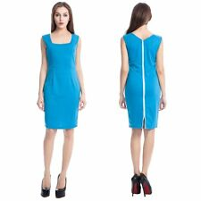 Elegant Women Bodycon Business Career Office Wiggle Pencil Formal Party Dress
