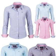 Rydale Ladies Checked Shirts & Striped Shirts Luxury Cotton Fitted Blouses