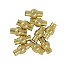 10 Pcs Gold/Silver Filled Leather Kumihimo Glue 4mm Tube Barrel Magnetic Clasps