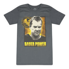 24 Bauer Power Photo And Quote Counter Terrorist Unit Logo Men's Grey T-shirt