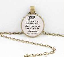 """""""Faith"""" Martin Luther King Jr. gift pendant necklace jewelry"""