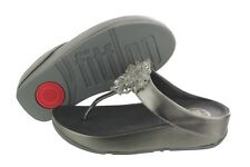 FitFlop Blossom 574-054 Leather Toe Thong Sandals Slip On Medium (B, M) Womens