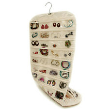 Closet Complete CANVAS Ultra 80 Pocket Hanging Jewelry Organizer New